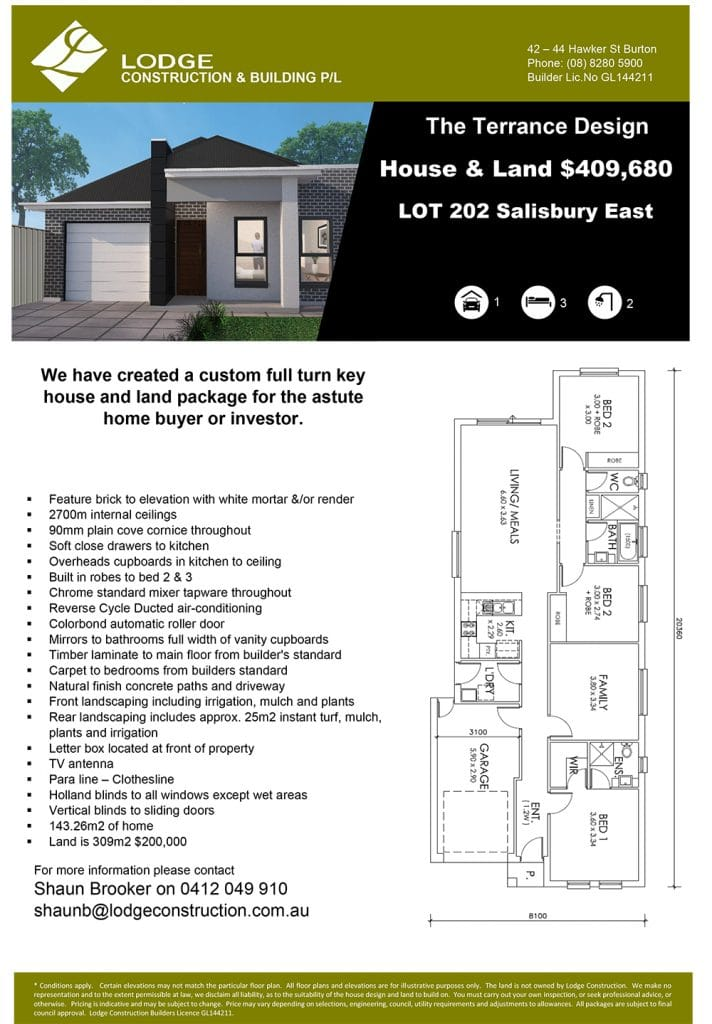 The Terrace Design House & Land Salisbury East SA 5109 Info