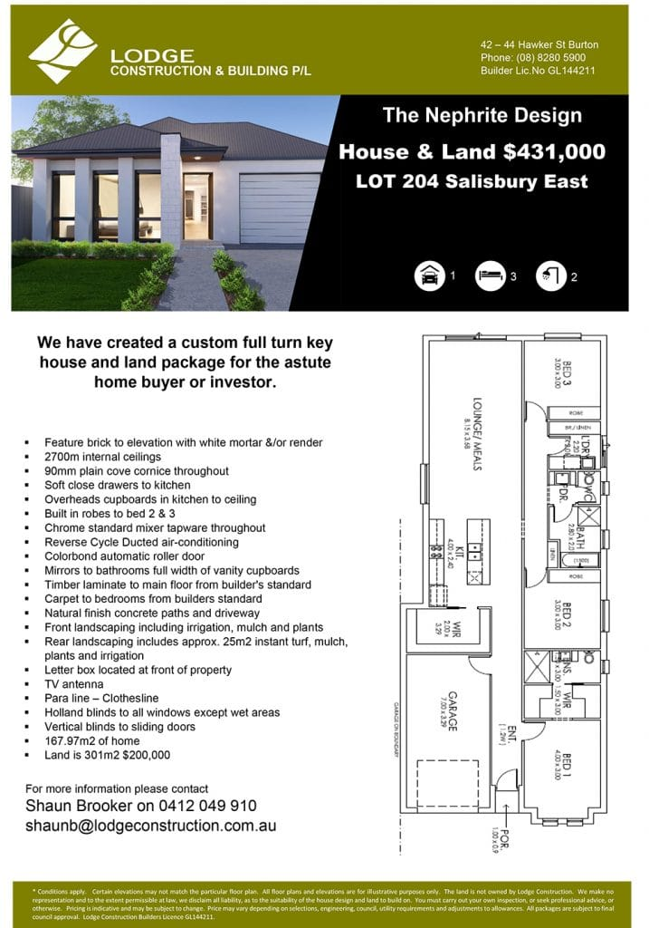 The Nephrite Design House & Land Salisbury East SA 5109 Info
