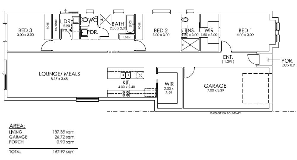 The Nephrite Design House & Land Salisbury East SA 5109 Floor Plan