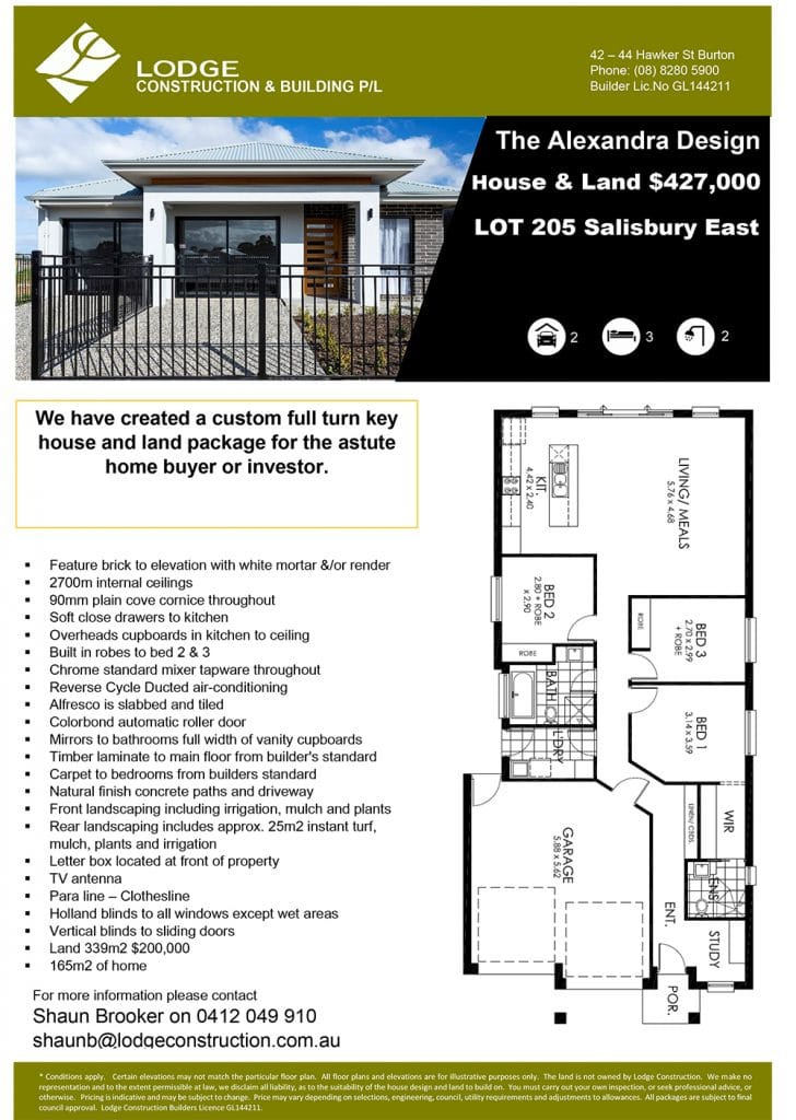The Alexandra Design House & Land Salisbury East SA 5109 Info