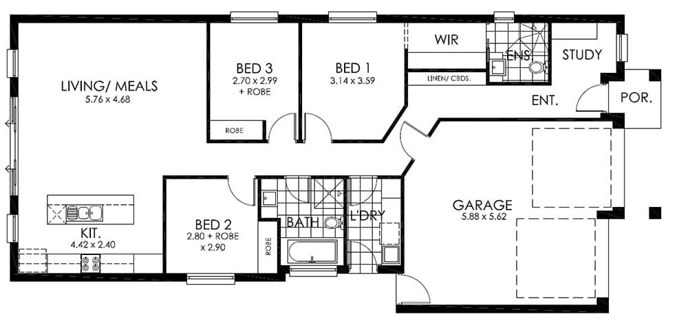 The Alexandra Design House & Land Salisbury East SA 5109 Floor Plan