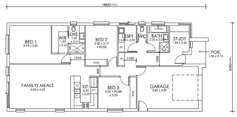 The Brooks MK2 Design Mt Barker SA 5251 Floor Plan