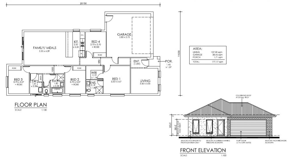 House And Land Package LOT 825 Grace Street Munno Para West SA 5115 Floor Plan
